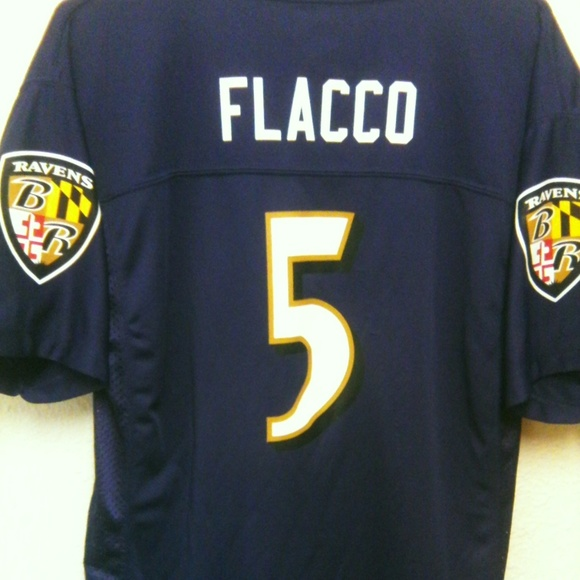 new style 95170 75314 NFL Baltimore Ravens Youth Flacco Jersey XL